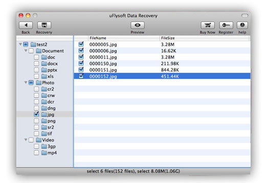 preview data before recovery